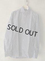 BORRIELLO (ボリエッロ) ブラウンxネイビーxイエロー タータンチェックシャツ