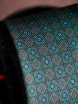 画像3: E.G.カペッリ ヘビー シルク プリント ネクタイ グリーンベース レッド&ブルー ヴィンテージパターン (3)