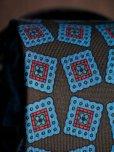 画像3: E.G.カペッリ ヘビー シルク プリント ネクタイ ブラウンベース ブルー ヴィンテージパターン