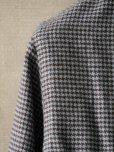 画像6: BORRIELLO (ボリエッロ) サックスxブラウン ハウンドトゥース フランネルシャツ 秋冬向き
