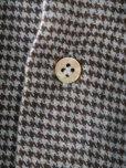画像8: BORRIELLO (ボリエッロ) サックスxブラウン ハウンドトゥース フランネルシャツ 秋冬向き