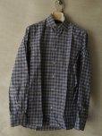 画像1: BORRIELLO (ボリエッロ) ブラウンxネイビーxイエロー タータンチェックシャツ (1)