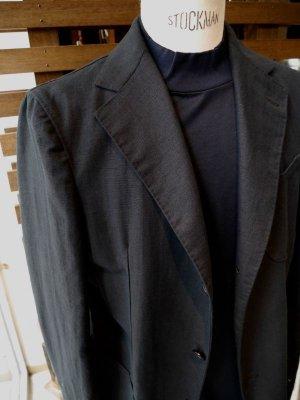 画像5: MATTEOAVERSA(マッテオアヴェルサ)モックネックTシャツ シルケット加工コットン ネイビー 夏向き