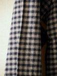 画像3: BORRIELLO (ボリエッロ)   ネイビー+グレー ギンガムチェックシャツ  秋冬向き (3)