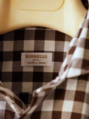 画像5: BORRIELLO (ボリエッロ)   ブラウン+ホワイト ギンガムチェックシャツ  秋冬向き